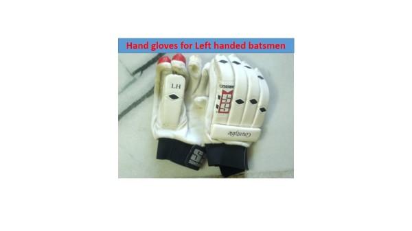 Hand gloves(left handed batsman)