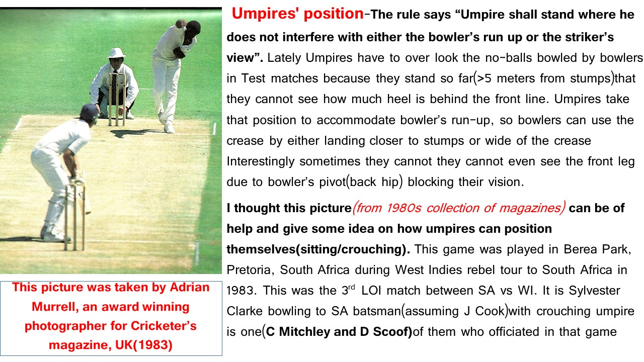 Umpires position