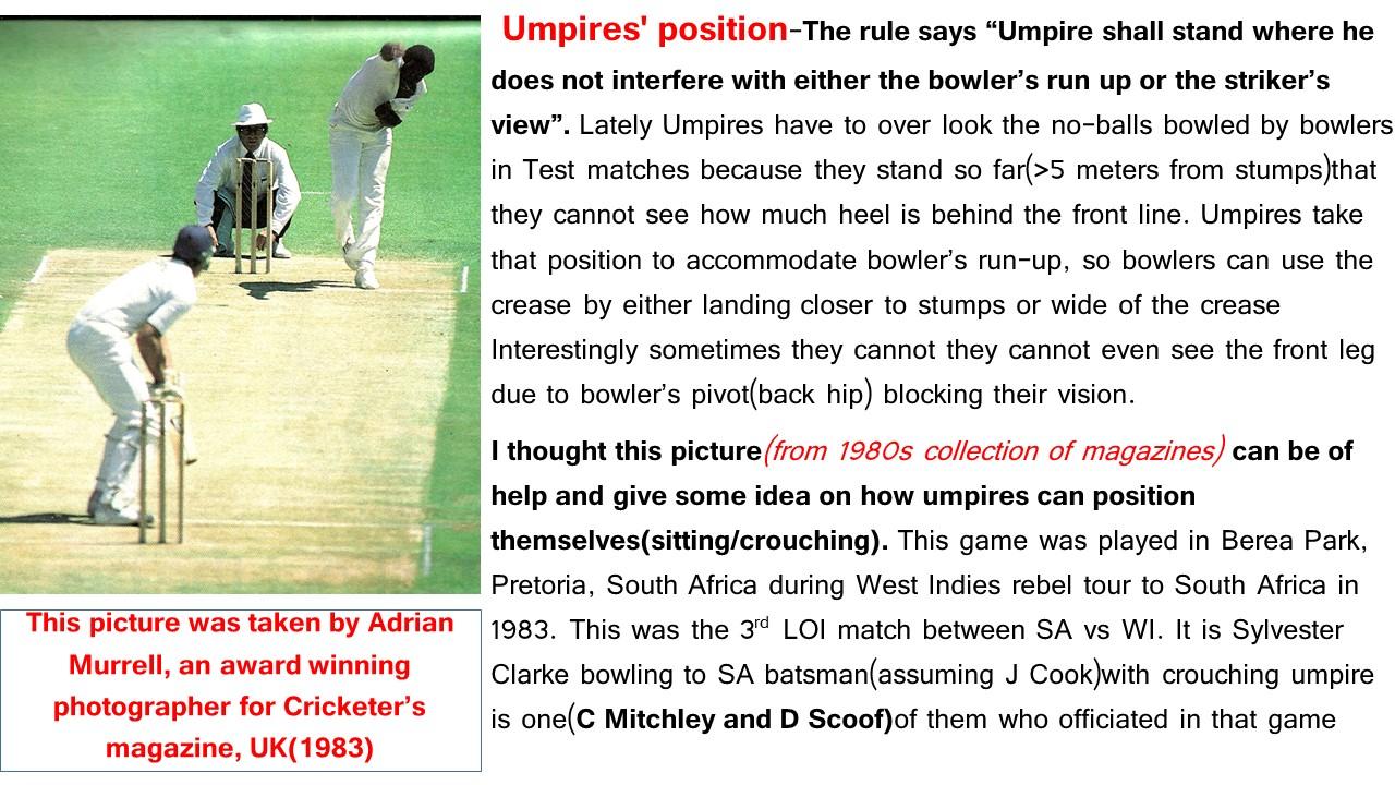 Umpires position